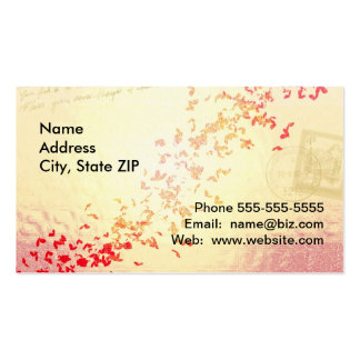 Falling love hearts business cards