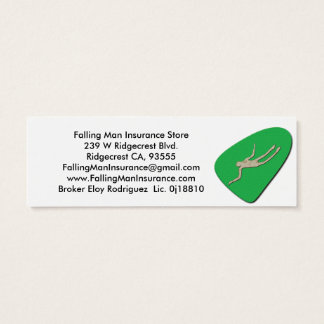 Falling Man Petroglyphs Mini Business Card