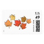 Falling Maple Leaves Postage