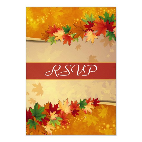 Falling Maple Leaves RSVP Card