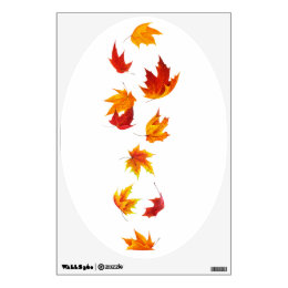 Falling maple leaves wall decal