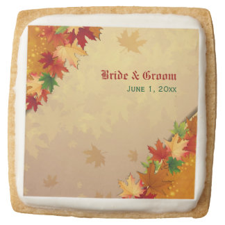 Falling Maple Leaves Wedding Cookies