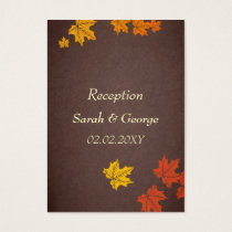 falling maple leaves  wedding Reception   Cards