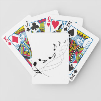 Falling notes bicycle playing cards