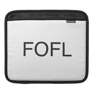 falling on floor laughing.ai iPad sleeve