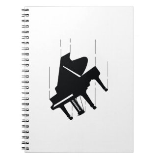 Falling Piano Notebook