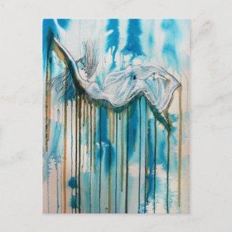 Falling postcard