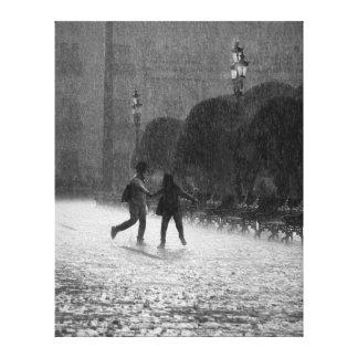 Falling Rain in Downtown Leon Guanajuato Mexico Canvas Print