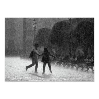 Falling Rain in Downtown Leon Guanajuato Mexico Card