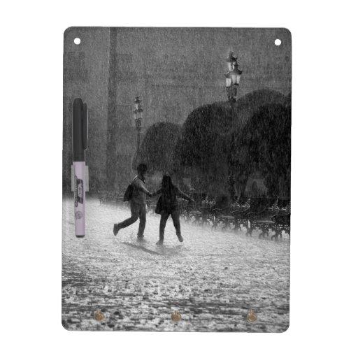 Falling Rain in Downtown Leon Guanajuato Mexico Dry Erase Board