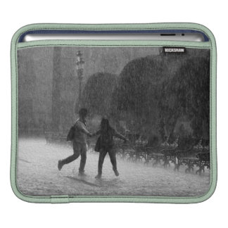 Falling Rain in Downtown Leon Guanajuato Mexico Sleeves For iPads