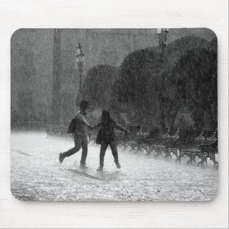 Falling Rain Mouse Pad
