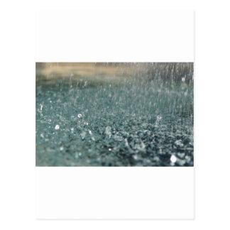 Falling Rain Post Card