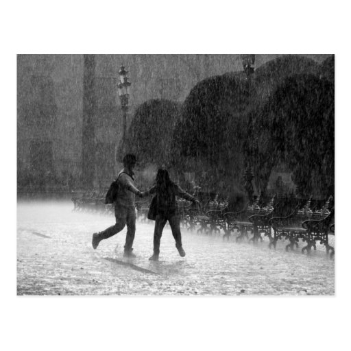 Falling Rain Postcard