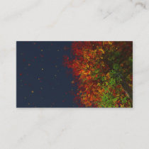 Falling Rainbow Bookmarks Business Card