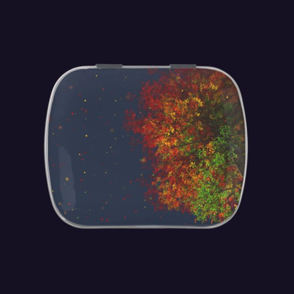 Falling Rainbow Candy Tin