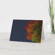 Falling Rainbow Card