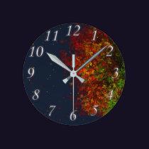 Falling Rainbow Clock