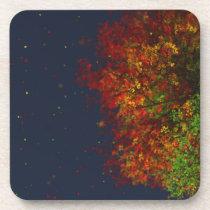 Falling Rainbow Cork Coasters