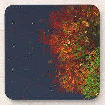 Falling Rainbow Cork Coasters