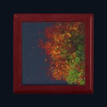 Falling Rainbow Jewelry Box