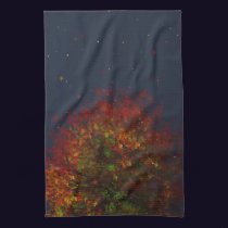 Falling Rainbow Kitchen Towel