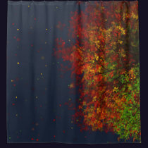 Falling Rainbow Shower Curtain