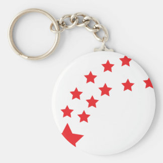 falling red stars keychain