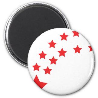 falling red stars magnet