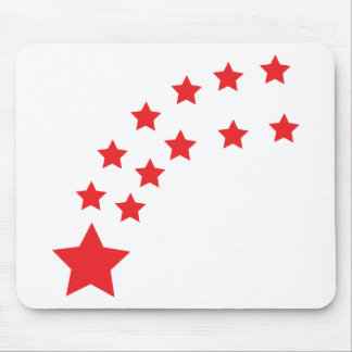 falling red stars mouse pad