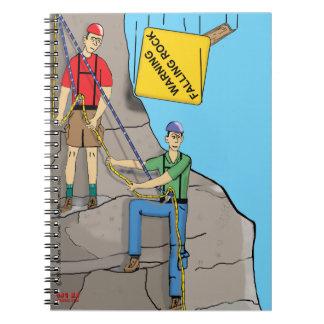 """""""Falling Rock"""" Notebook"""
