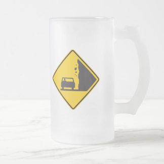 Falling Rock Zone Highway Sign Coffee Mugs