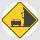Falling Rock Zone Highway Sign Stickers