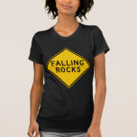 Falling Rocks Zone Highway Sign T-Shirt