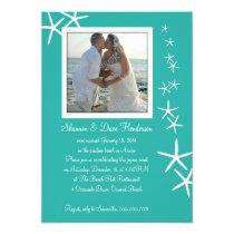 "Falling Sea Stars Post-Wedding Photo Invitation 5"" X 7"" Invitation Card"