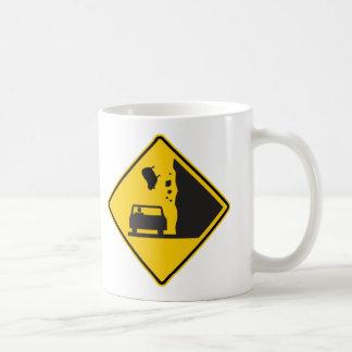 Falling Sheep Zone Highway Sign Mug