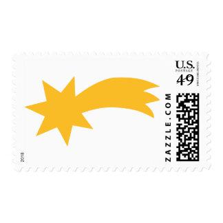 Falling shooting star stamps