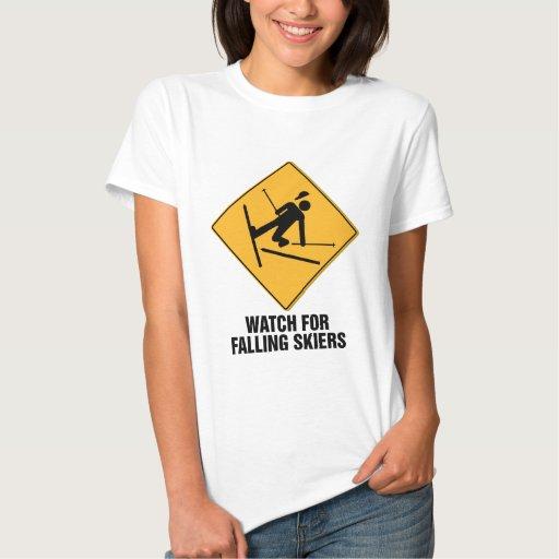 Falling Skiers Tshirts