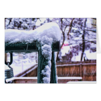 Falling Snow Greeting Cards