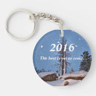 Falling snow key chain. keychain