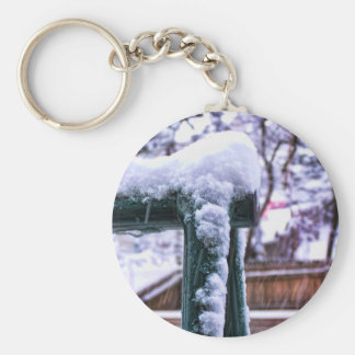 Falling Snow Keychain