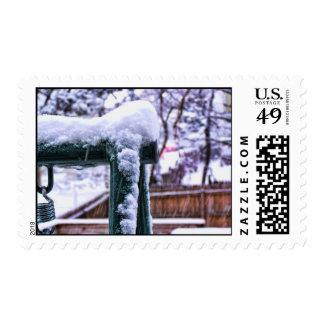 Falling Snow Postage Stamp