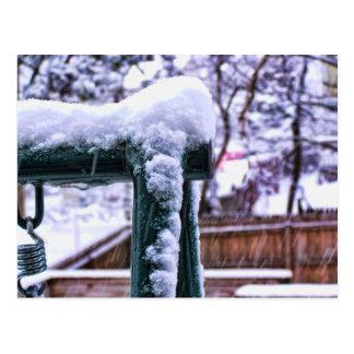 Falling Snow Postcard