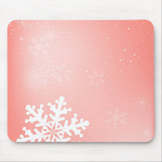 Falling Snowflake Mouse Pad