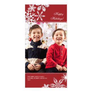 Falling Snowflakes Holiday Photo Card