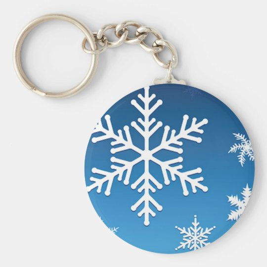 Falling Snowflakes Keychain
