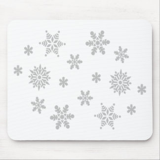 Falling Snowflakes Mouse Pad