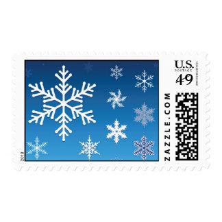 Falling Snowflakes Postage