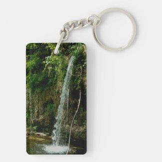 Falling Spring Waterfall Double-Sided Rectangular Acrylic Keychain