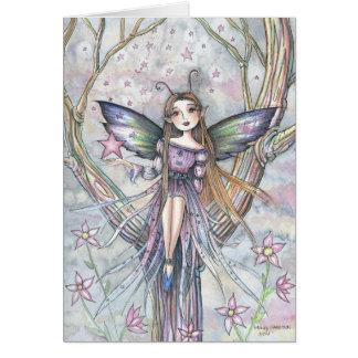 Falling Star Fairy Blank Card by Molly Harrison